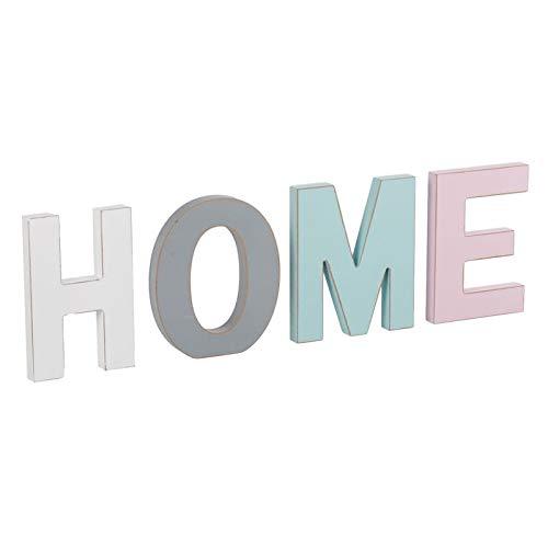 Letrero Home Juego 4 Letras Madera