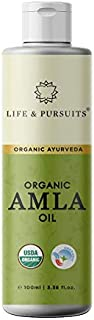 Life & Pursuits USDA Organic Amla Oil, 3.38 fl oz, for Hair Growth, Strong & Healthy Hair with Triphala, Hibiscus