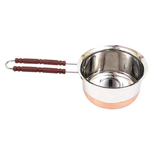 IndiaBigShop Induction Compatibile in Acciaio Inossidabile Casseruola - Lavabile in lavastoviglie