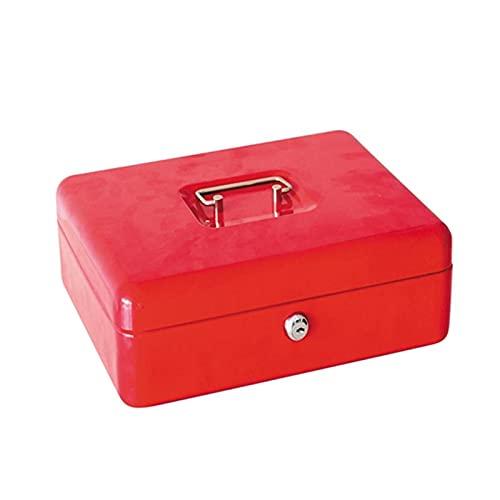 CML Mini Bloqueo de Seguridad Caja de Dinero en Efectivo de Acero Inoxidable Caja de Seguridad Segura roja for factura
