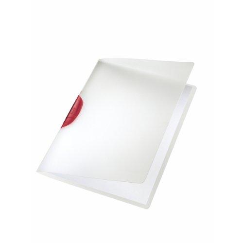 LEITZ 41750125 - Dossiers CLASSIC PP rígido clip plástico DIN A4 capacidad 30 hojas color clip rojo ⭐