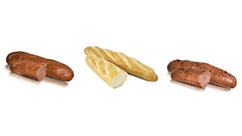 Vestakorn Baguette Auswahl - 3x Handwerksbaguettes - 1x Weizen-, 1x Roggen-, 1xZwiebelbaguette