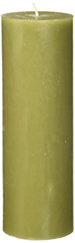 Zest Candle 110-Hour Burn Time Pillar Candle, 3 by 9-Inch, Sage Green