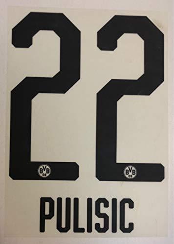 Flock Original BVB Borussia Dortmund Trikot 25cm - PULISIC 22