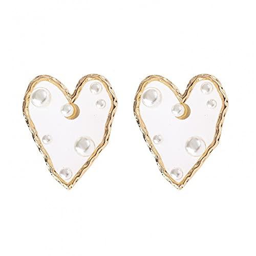 Pendientes con perlas para mujer, color dorado, bonito regalo para mujeres