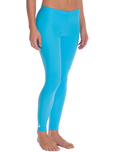 iQ-Company Damen Leggings  UV 300 Pants Watersport  , Turquoise, XS, 6641222518-36XS