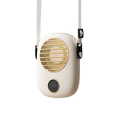 CFPacrobaticS-UK Ventilador Portátil para Colgar En El Cuello, Manos Libres, Ventilador De Refrigeración, Mini Ventilador USB Portátil ABS Fresco con Cordón Ajustable para Exteriores Blanco
