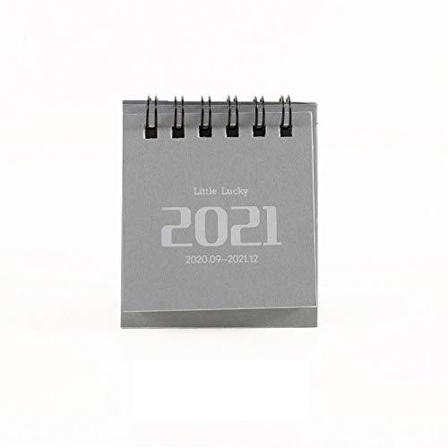 MJYGV Calendar 2021 2021 Einfache Mini-Desktop-Papier-Papier-Einfache Kalender Dual-Täglicher Scheduler-Tabellenplaner jährlicher Agenda Organizer Bürobedarf 2021 Kalender MJ. (Color : C)