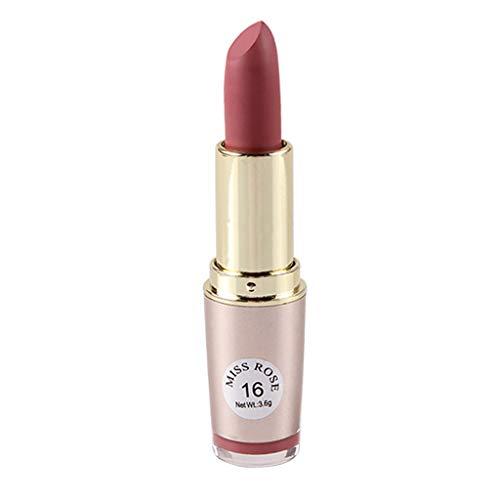 YunYoud Rossetto Opaco Impermeabile Long Lasting Lip Cosmetic Beauty Makeup Twist Gloss Ultrabrillante Con Acido Ialuronico E Pro-Collagene (D)