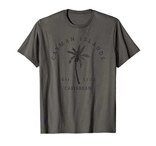 Retro Cool Cayman Islands Original Beach Palm Tree Novelty T-Shirt
