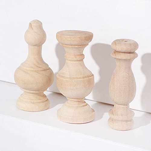 Dekorative Formteile Schranksitz Füße Vintage Holz Geschnitzte Möbel Fußbeine Europäischen Stil Dekoration Handwerk Blume Ornament Multi Stile Home Onlays und Applikationen. (Color : 4)