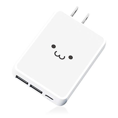 エレコム USB コンセント PD 充電器 合計42W Type-Cポート×1 Aポート×2 【 iPhone/Android/タブレット 対応 】 ホワイトフェイス EC-AC07WF