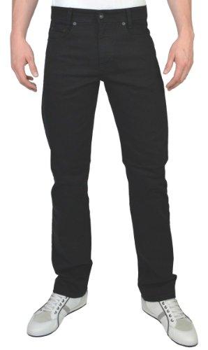 MAC Herren Straight Leg Jeanshose Arne, Schwarz (Black H900), 38W / 30L