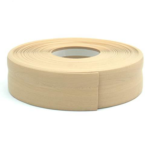 DQ-PP WEICHSOCKELLEISTE | 40m (2x20m) | kiefer | 32x23mm | PVC | selbstklebend | Knickwinkel Fussleisten Gummileiste Sockelleiste Winkelprofil Abschlussleiste Bodenleiste