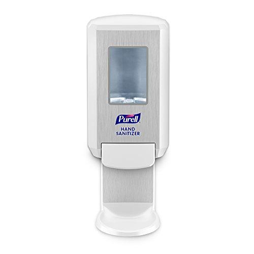 PURELL CS4 Hand Sanitizer Push-Style Dispenser, White, Dispenser for PURELL CS4 1200 mL Hand Sanitizer Refill - 5121-01