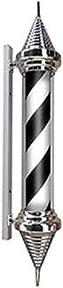 SAFGH Luz giratoria para peluquería para Exteriores, Poste de peluquería LED, Blanco, Negro, Giratorio e Iluminado, con Ra...
