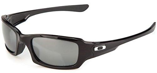 Oakley Men's Fives Squared Sunglasses (Black Frame Polarized Silver Mirror Lens, Black Frame Polarized Silver Mirror Lens)