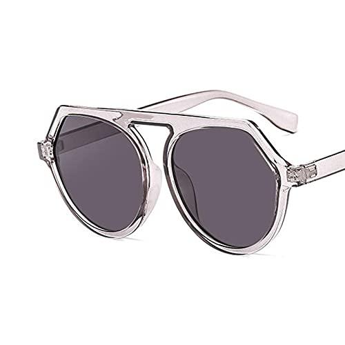 Vibner Gafas de Sol Gafas De Sol Cuadradas para Mujer, Gafas De Sol para Mujer, Anteojos con Montura De Plástico, Lente Transparente, Sombra Uv400, Conducción A La Moda C4