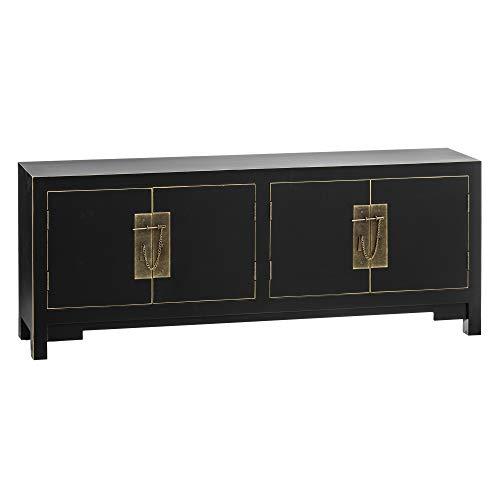 Mueble TV Industrial, de Madera y Metal marrón, de 150x40x49 cm - LOLAhome - LOLAhome