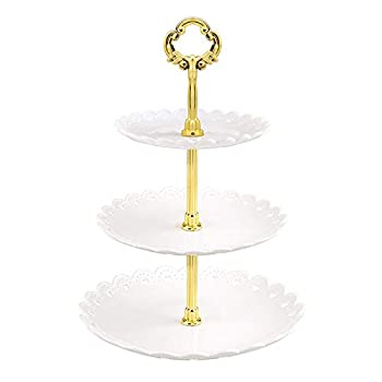 3 Tier Cake Stand Plastic Dessert Stand Mini Cakes Fruit Candy Display Tower