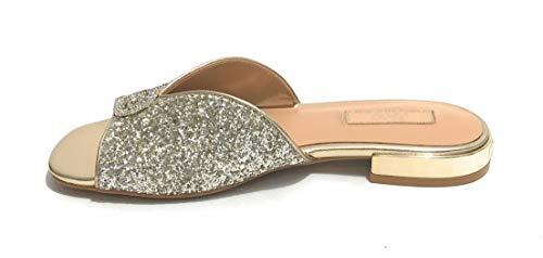 Scarpe Donna Sandalo Liu-Jo Astra Slipper Silver/Gold DS21LJ16 SA1019 41