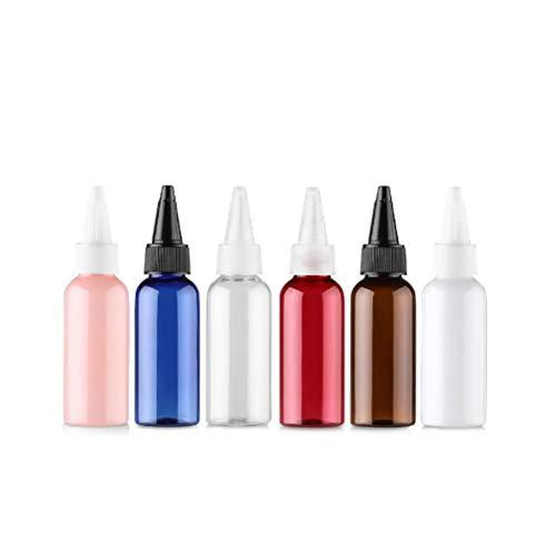 bubussv (50 Stück) 50ml Quetschflasche Leerflasche Kunststofflasche Plastikflasche Spritzflasche quetschbar zum befüllen und mischen auch Liquide Flüssigkeiten