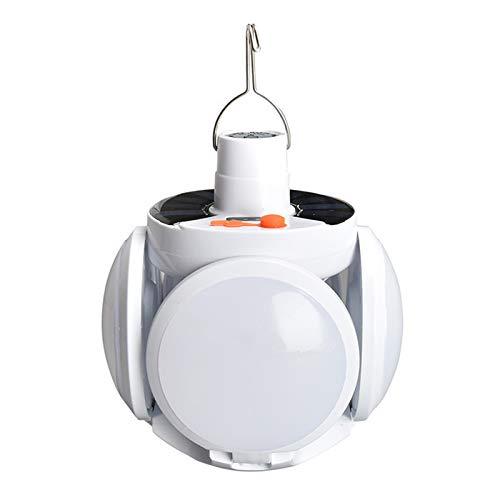 KANGLE-DERI Luz Colgante De Bola Plegable LED Solar para Exteriores, Luz De Emergencia De Carga USB, Luz De Camping con Cinco Modos De Iluminación Conmutables, Adecuada para Jardín/Camping/Patio