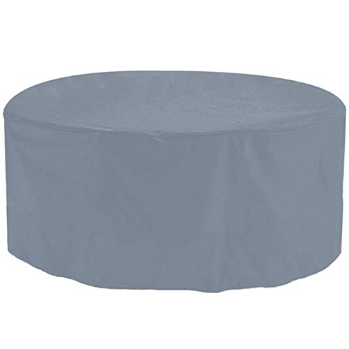 STZYY Round Garden Furniture Covers Patio Table Covers Waterproof Outdoor Fire Pit Circular Tables and Chairs Winter Covers, Easy to Install,Gray,362x100cm