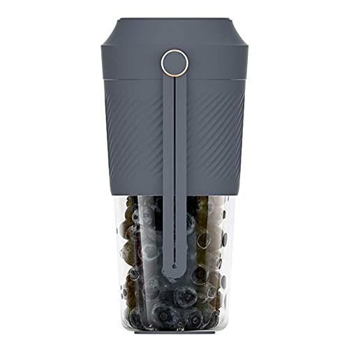 Copa de agua Exprimidor eléctrico Juicer rápido Licuadora portátil 400 ml Extractor de taza de fruta Carga Viaje Casero Jugo (Color: Azul) Kshu (Color: Azul)