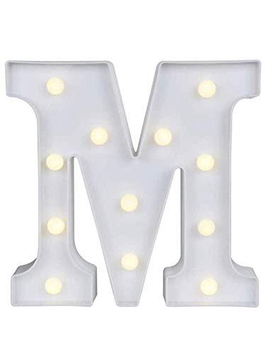 Yuna Lettere Luminose LED Lettere Decorative a LED Lettere dell'alfabeto Bianco (M) cm 22