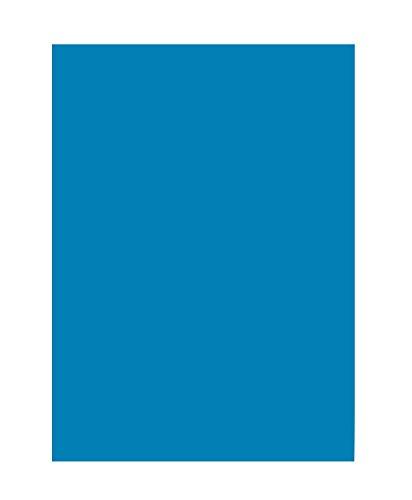 folia 6334 - Tonpapier mittelblau, DIN A3, 130 g/qm, 50 Blatt - zum Basteln und kreativen Gestalten von Karten, Fensterbildern und für Scrapbooking