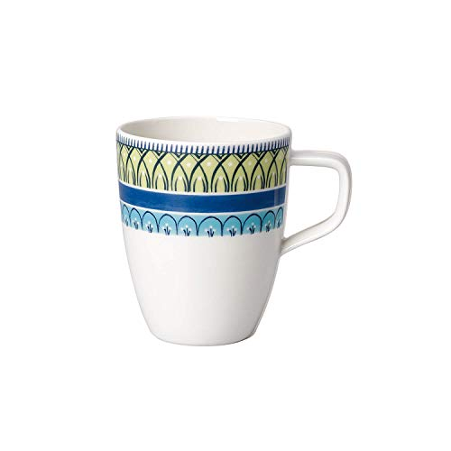 Villeroy & Boch Casale Blu Carla Tazza da Caffè, 380 ml, Porcellana Premium, Bianco/Giallo