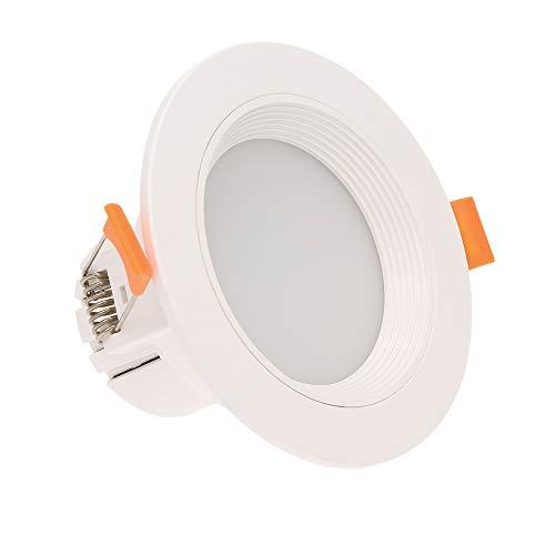 Lixada 7W Downlight LED Luz Lámpara de Inducción Lámpara de Techo con Sensor de Movimiento Interruptor Automático Lámpara de Techo para el Hogar Oficina Pasillo Balcón Lavadero Ascensor