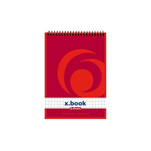 Herlitz 110635 Spiralnotizblock A6, 50 Blatt 10 Stück