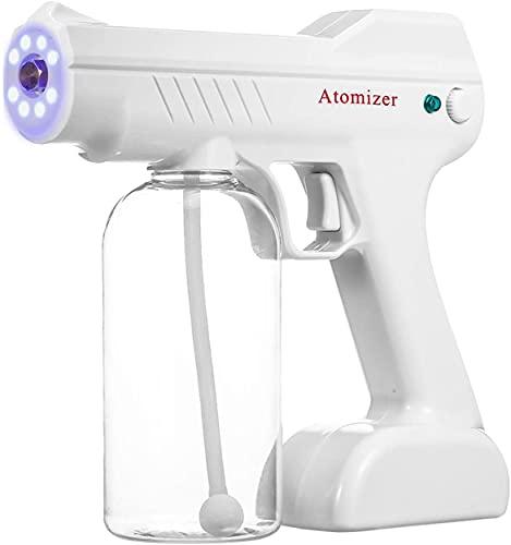 Pistola de pulverización de desinfectante nano portátil, máquina de infusión de desinfección eléctrica, máquina de nebulización portátil, 2600mAh capacidad de batería recargable con pistola de vapor