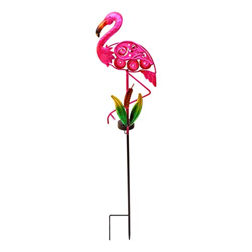 OSALADI Luces de Estaca de Flamencos Luces Decorativas de Paisaje Solar Lámpara de Patio para Patio de Jardín Lámpara de Decoración