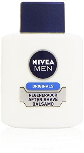 NIVEA MEN Protege & Cuida After Shave Bálsamo Hidratante (1 x 100 ml), con aloe vera y provitamina B5, para el cuidado de la piel después del afeitado