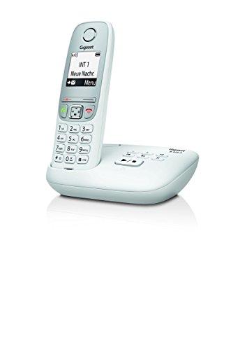 Gigaset A415A Schnurloses Telefon mit Anrufbeantworter (DECT Telefon mit Freisprechfunktion, Grafik Display und leichter Bedienung) weiß
