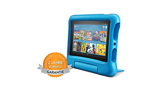 Fire7 Kids-Tablet, 7-Zoll-Display, 16GB, blaue kindgerechte Hülle