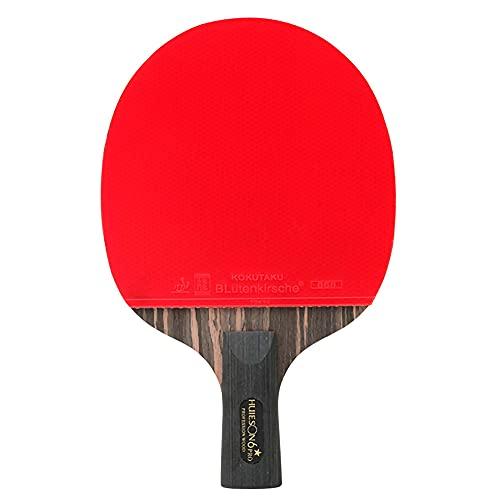 HXFENA Bate de Tenis de Mesa,Palas de Ping Pong Profesional de 6 Estrellas Rebote RáPido Excelente Control Y CóModo para Jugar en Interiores Y Exteriores/A/Mango corto
