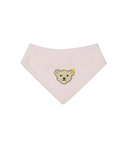 Steiff Unisex - Baby Halstuch 0006680 Nickytuch, Einfarbig, Rosa (Barely Pink 2560), Einheitsgröße (Länge 32,5cm)