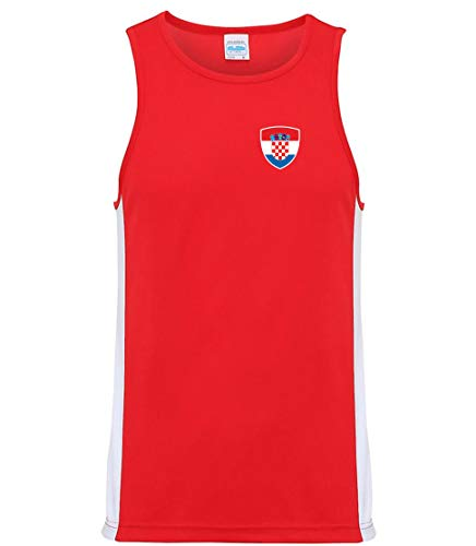 Nation Kroatien Trikot Tank Top Athletic Training ATH BR-R (L)