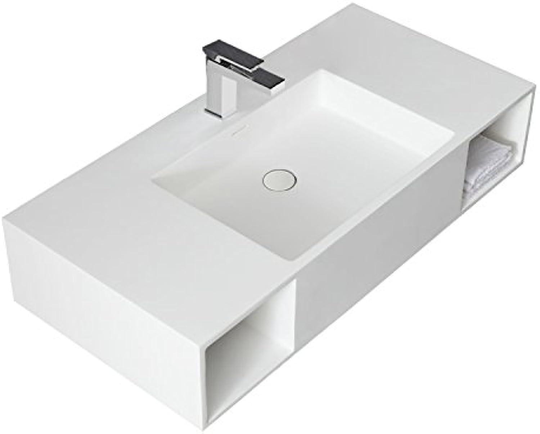 STONEART Waschtisch LQ710 wei 100x48cm glnzend