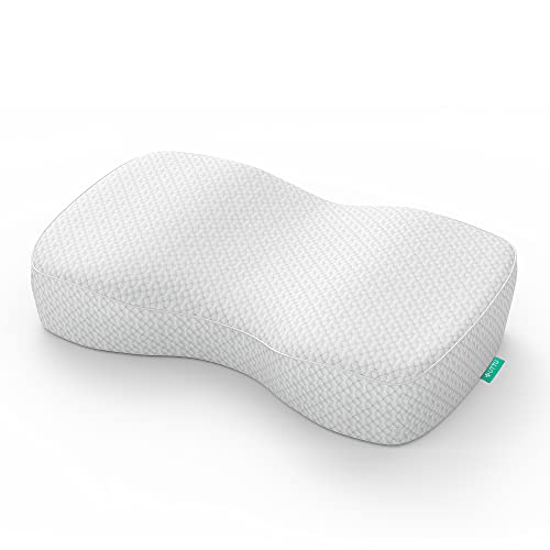UTTU Memory Foam Nackenkissen, Ergonomisches Kissen für Nacken und Schulter Schmerzen, Kopfkissen für Seitenschläfer, Rückenschläfer und Bauchschläfer