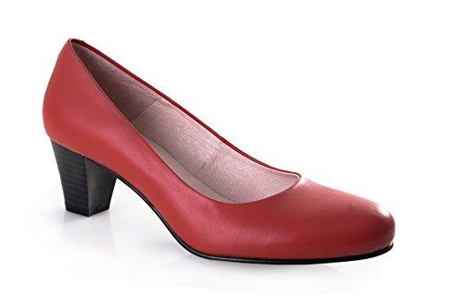 zeddea Bienvenida Rojo - Zapatos de azafata cómodos para Mujer -Talla 41