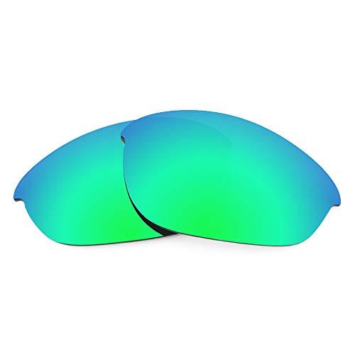 Revant Revant Ersatzgläser für Oakley Half Jacket (Asiatische Passform) - Kompatibel mit für Oakley Half Jacket (Asiatische Passform), Polarisiert, Elite Grün MirrorShield