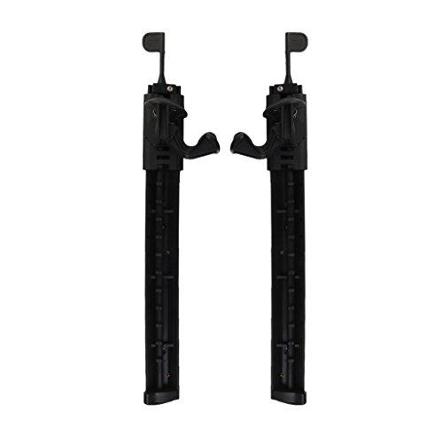 Réglable En Nylon De Blocage Kayak Pied Accolades Pédales Repose-pieds 2pcs Noir