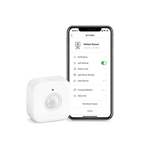SwitchBot Détecteur de mouvement de porte intelligent - Système sans fil de sécurité domestique, alerte de détecteur de mouvement infrarouge passif (PIR), avec SwitchBot Hub Mini compatible avec Alexa