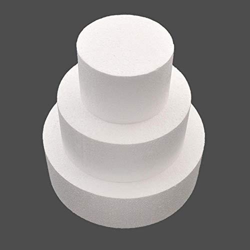 Uteruik - Molde redondo para tartas (10,16 cm, 15,24 cm ó 20,32 cm)
