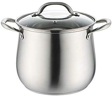 RVS 2.5l Huishoudelijke 304 RVS Soeppot, Extra hoog met Dubbele Bodem en Dikke Stoofpot Kookgerei Keukenpotten Hot Pot